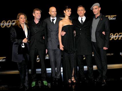 Barbara Broccoli, Jesper Christensen, Marc Forster, Olga Kurylenko, Daniel Craig, Anatole Taubman