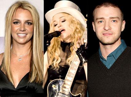 Britney Spears, Justin Timberlake, Madonna