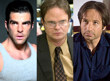 Zachary Quinto (Heroes), Rainn Wilson (The Office) David Duchovny (Californication)