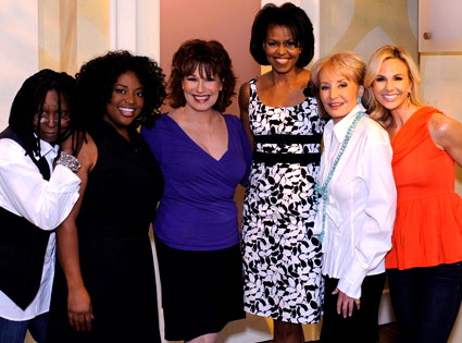 Whoopi Goldberg, Sherri Shepherd, Joy Behar, Michelle Obama, Barbara Walters, Elizabeth Hasselbeck