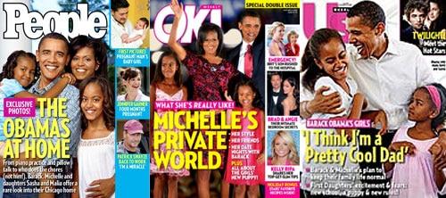 Barack Obama, Michelle Obama, Malia Obama, Sasha Obama, People Magazine, OK! Magazine, Us Weekly