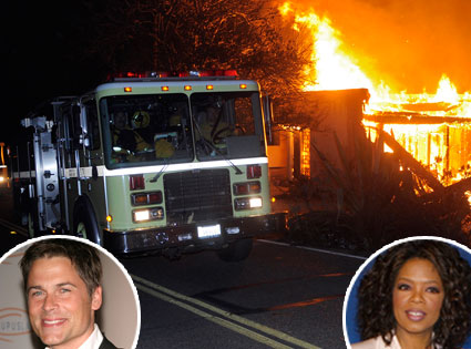 Montecito Fire, Rob Lowe, Oprah Winfrey