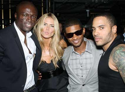 Heidi Klum, Seal, Lenny Kravitz and Usher