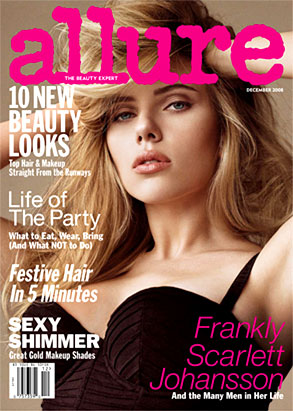 Scarlett Johansson, Allure Cover