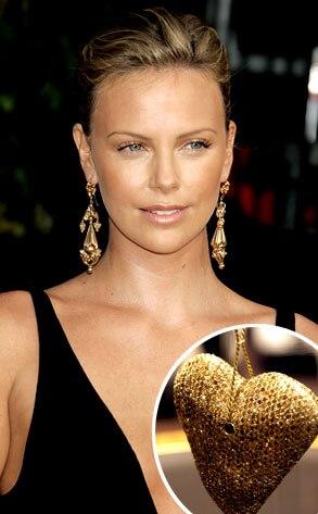 Charlize Theron, Breil Milano Diamond Heart Pendant