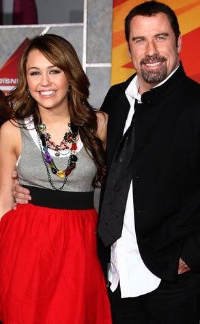 Miley Cyrus, John Travolta