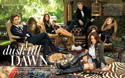 Twilight cast, InStyle Magazine (inside spread)