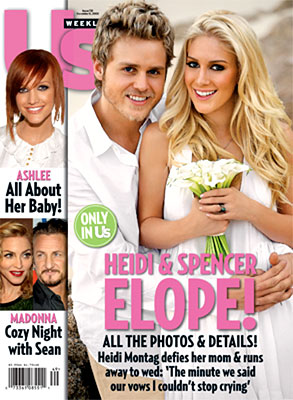 Heidi Montag, Spencer Pratt, US Weekly Cover