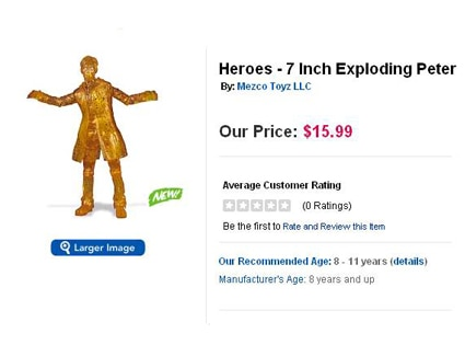 Heroes, Seven Inch Exploding Peter