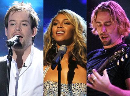 David Cook, Beyonce, Chad Kroeger