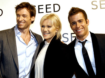 Hugh Jackman, Deborra-Lee Furness, John Palermo