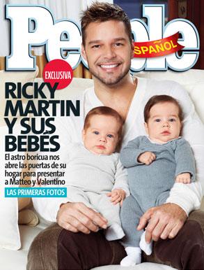 Ricky Martin, Twins, People En Espanol