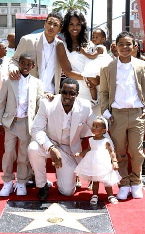 """Sean """"Diddy"""" Combs, Kim Porter, Children"""