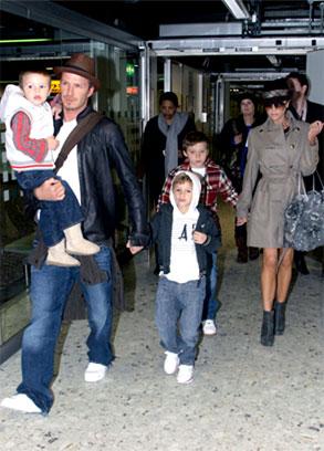Victoria Beckham, David Beckham, Brooklyn Beckham, Romeo Beckham, Cruz Beckham