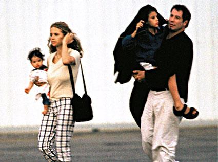 Kelly Preston, Ella Travolta, Jett Travolta, John Travolta