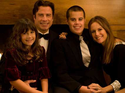 Kelly Preston, John Travolta, Jett Travolta, Ella Travolta