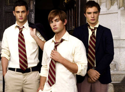 Chace Crawford, Ed Westwick, Penn Badgley, Gossip Girl