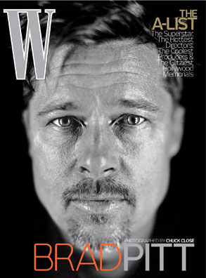 Brad Pitt, W Magazine