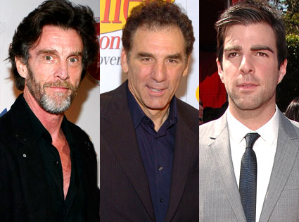 John Glover, Michael Richards, Zachary Quinto