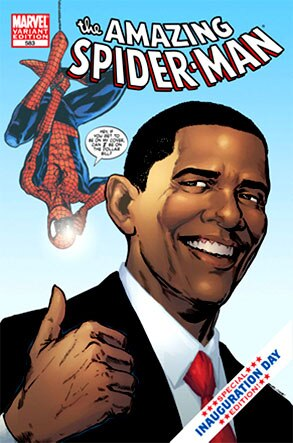 Barack Obama, Spider-Man Comic Cover