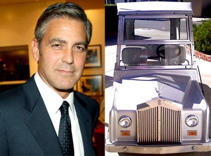 George Clooney, Rolls Royce Golf Cart