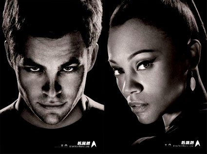 Star Trek, Chris Pine, Zoe Saldana