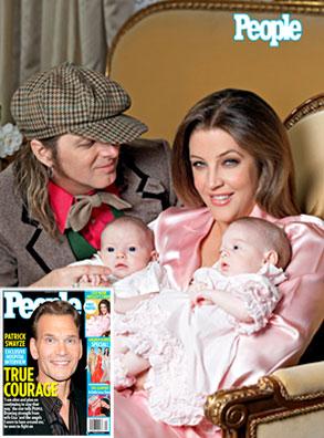 Lisa Marie Presley, Michael Lockwood, Finley, Harper, Patrick Swayze, People Cover