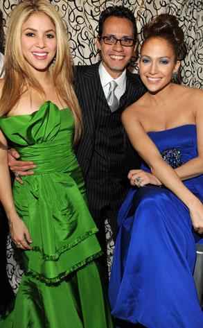 Shakira, Marc Anthony, Jennifer Lopez