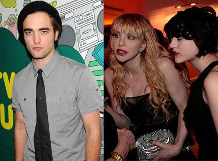 Robert Pattinson, Courtney Love, Francis Bean Cobain
