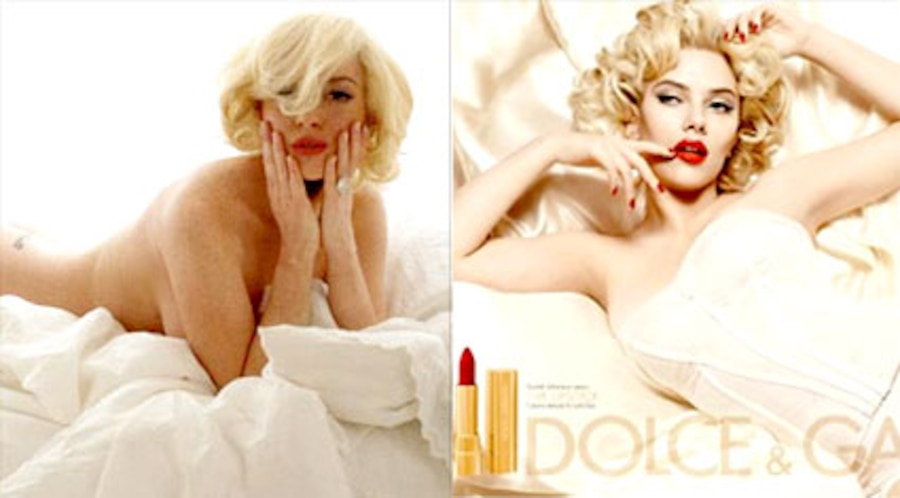 Lindsay Lohan, New York Magazine, Scarlett Johansson, Dolce and Gabbana Ad