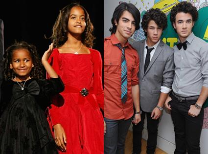 Malia Obama, Sasha Obama, The Jonas Brothers