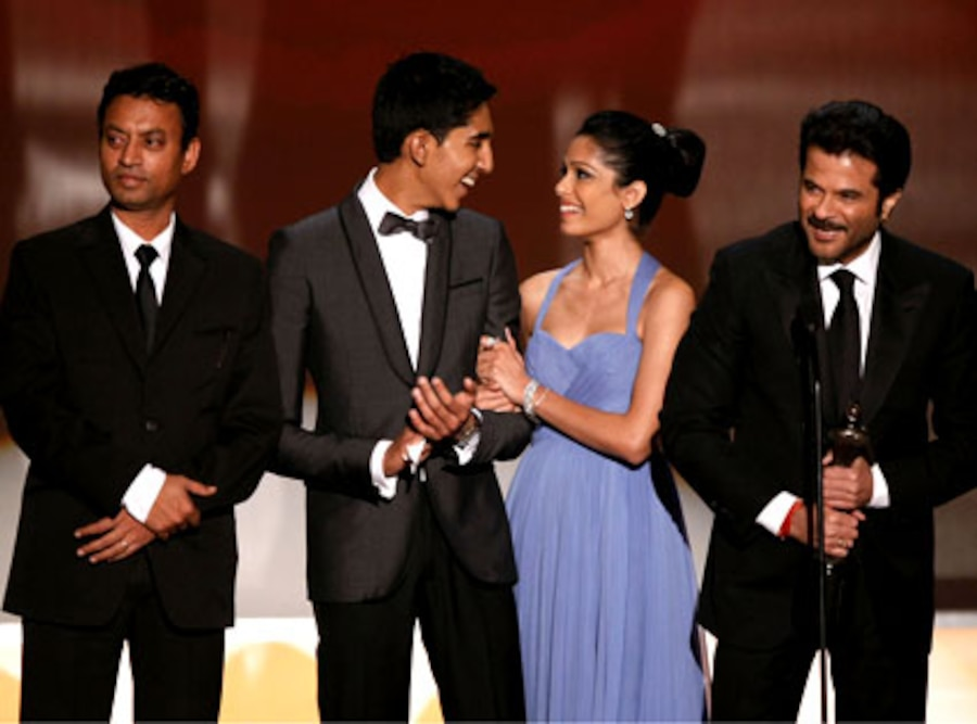 Irrfan Khan, Dev Patel, Freida Pinto, Anil Kapoor, Slumdog Millionaire, Screen Actors Guild Awards