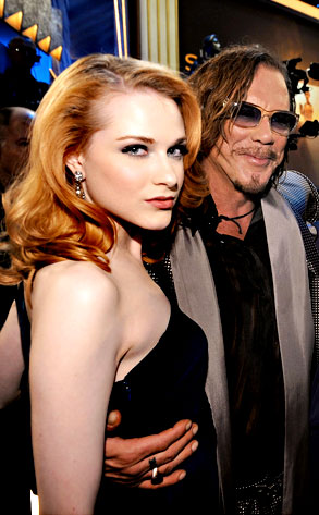 Evan Rachel Wood, Mickey Rourke