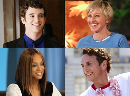 Michael Urie, Ellen DeGeneres, Tyra Banks, Sean Penn
