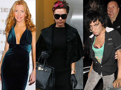 Heather Mills, Victoria Beckham, Amy Winehouse