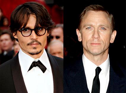 Johnny Depp, Daniel Craig