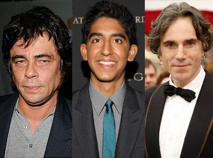 Benicio Del Toro, Dav Patel, Daniel Day Lewis