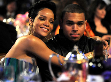 Former boyfriend and girlfriend: Chris Brown and Rihanna