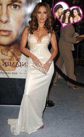 Jennifer Lopez, Kourtney Kardashian, Kim Kardashian, Khloe Kardashian
