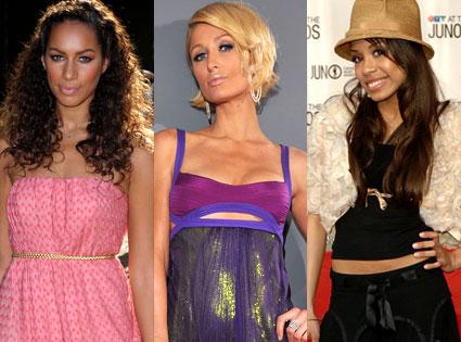 Leona Lewis, Paris Hilton, Keisha Chante