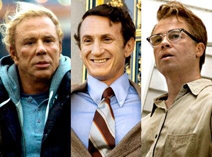 Mickey Rourke, The Wrestler, Sean Penn, Milk, Brad Pitt, The Curious Case of Benjamin Button