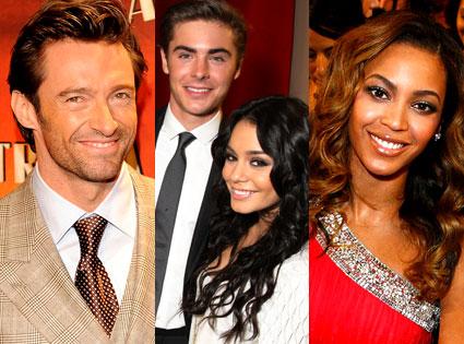 Hugh Jackman, Zac Efron, Vanessa Hudgens, Beyonce