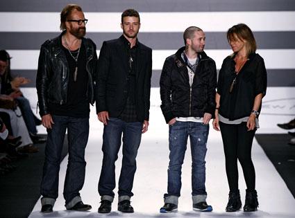 Justin Timberlake, William Rast Fashion Show