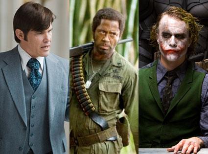 Josh Brolin (Milk), Robert Downey Jr. (Tropic Thunder), Heath Ledger (The Dark Knight)