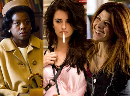 Viola Davis (Doubt), Penelope Cruz (Vicky Cristina Barcelona), Marisa Tomei (The Wrestler)