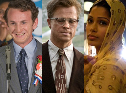 Milk, The Curious Case of Benjamin Button, Slumdog Millionaire