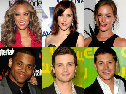 Tyra Banks, Sophia Bush, Leighton Meester, Tristan Wilds, Tom Welling, Jensen Ackles