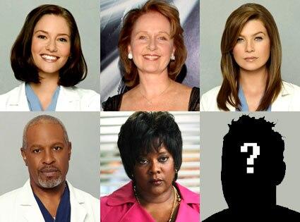 Chyler Leigh, Kate Burton, Ellen Pompeo, James Pickens Jr., Loretta Devine, Guy with Question Mark