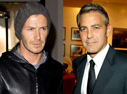 David Beckham, George Clooney