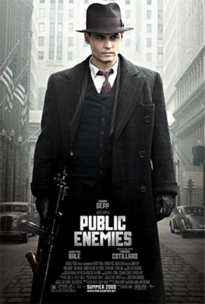 Johnny Depp, Public Enemies Poster